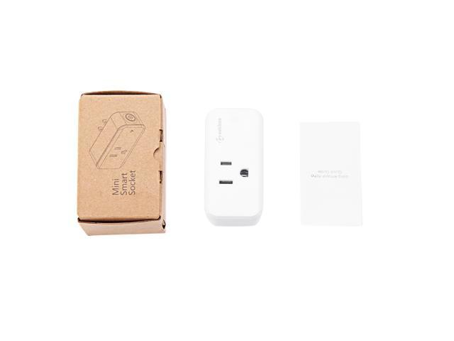 2 Pack Geekbes S09 Smart Socket WiFi Mini Plug APP Remote Control Timing Works with Echo/Google Home US Plug -White