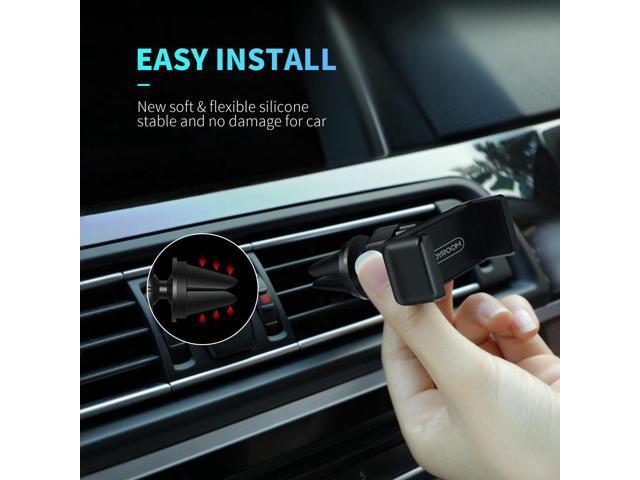 2 PACK Joyroom JR-ZS110 Mini Car Phone Mount Holder Air Outlet Bracket For 4.0-6.0 Inch Smartphone - Black