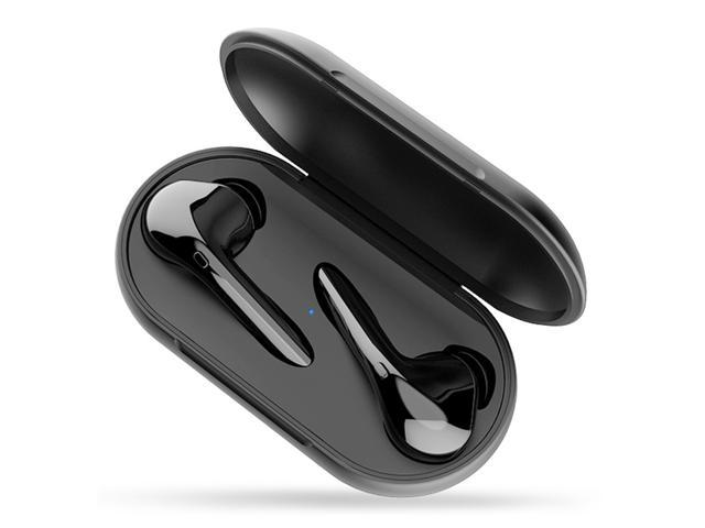 Myinnov MKJ-M6S Dual Bluetooth 5.0 Earphones with Mic Charging Box - Black