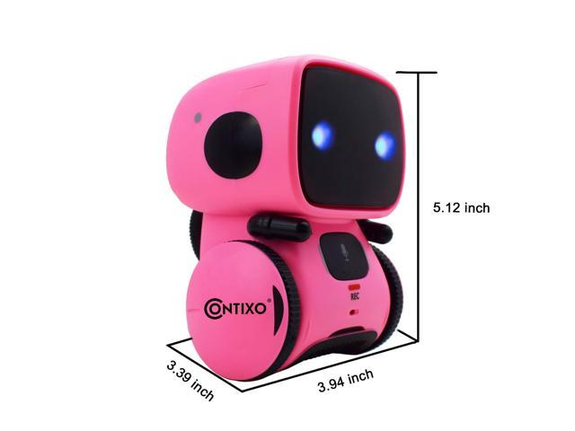 Contixo R1 Kids Mini Talking Robot   Voice Controlled, Sings & Dance, Funny for Adults & Family, Interactive Children's Toy for Boys, Girls, Infants & Toddlers (Pink)