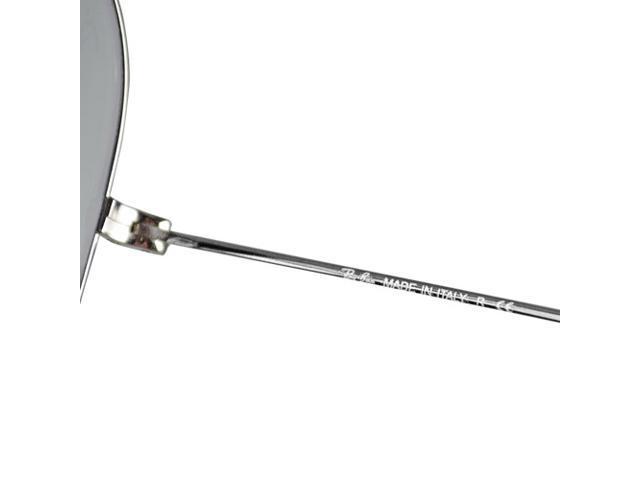 Ray Ban Aviator Flash Mirror Sunglasses - Silver Mirror / Silver Frame RB3025 W3277
