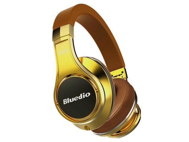 Bluedio UFO Faith Series High-End Bluetooth Headphones Revolution Patented 8 Tracks/3D Sound Effect/Aluminum Alloy Build/Hi-Fi Rank Wireless/Wired Over-Ear Headphones - Gold