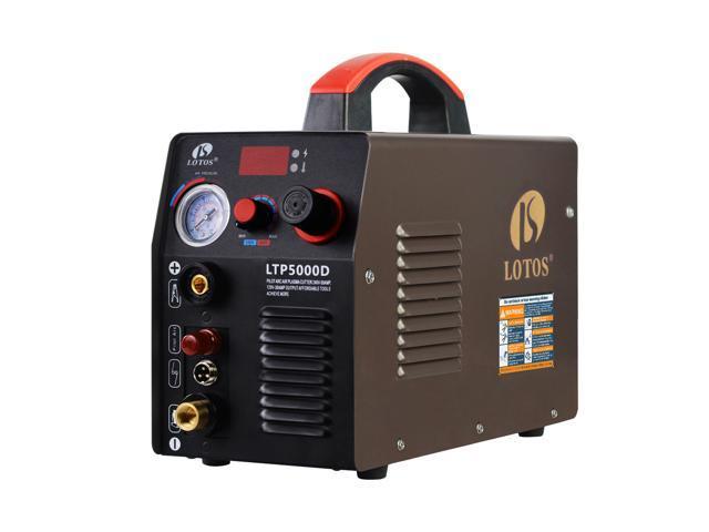 LOTOS LTP5000D Non-Touch Pilot Arc Plasma Cutter - 110/220VAC 1/2 Inch Clean Cut