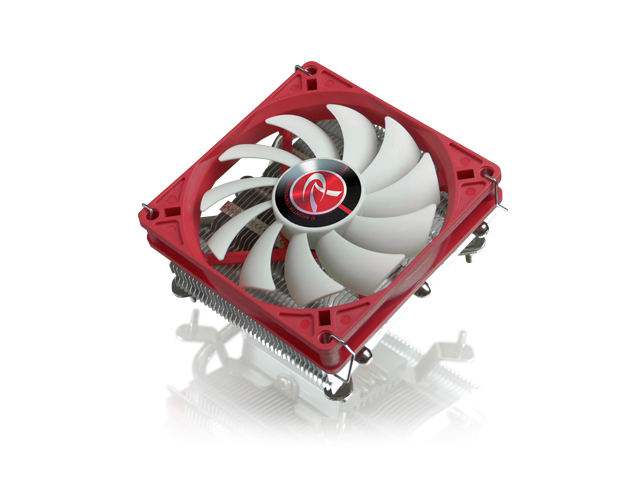 RAIJINTEK ZELOS - Low Profile CPU Cooler - 3pcs 6mm Nickel Plating Heat-Pipe, height of 44mm including the 9015 PWM fan, Supports Intel & AMD Modern Sockets