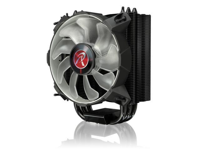 RAIJINTEK LETO R, a slim-type CPU cooler with 12025 Red LED PWM fan, is whole coating black, 3pcs 8mm heat-pipe and compatible with all modern CPU sockets. LETO series is your professional choice.