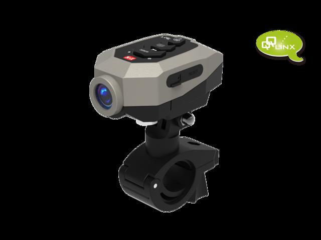 QQLinx B52X Ranger Bike Motorcycle Helmet  camera - 1296P, EIS  Anti-shake , IPX5 , 2hrs recording, Streamline  housing and FREE 16GB SD CARD