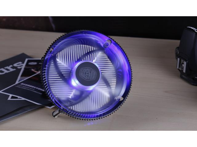 Cooler Master i70c (Copper Core) CPU Cooler - 120mm Blue LED PWM Cooling Fan & Heatsink - For Intel Socket LGA 1150 / 1151 / 1155 / 1156