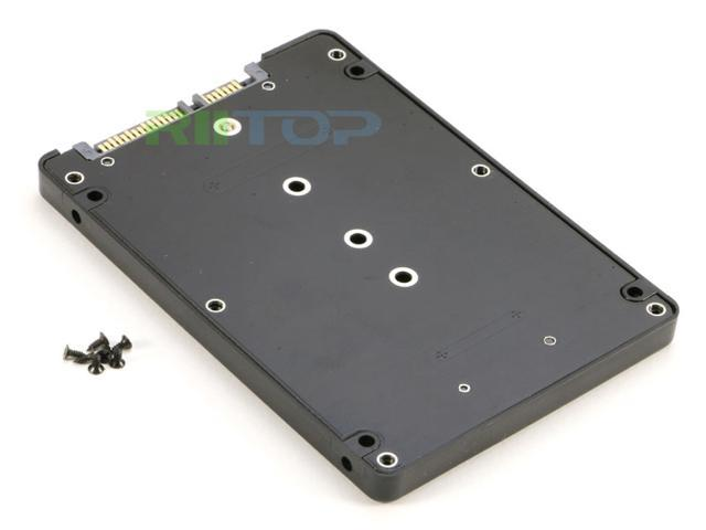 "RIITOP M.2 NGFF to SATA Adapter Converter Enclosure Case, B Key M.2 NGFF SSD to 2.5"" SATA Adapter with Enclosure 7mm thickness Plastic for 2280 mm SSD"