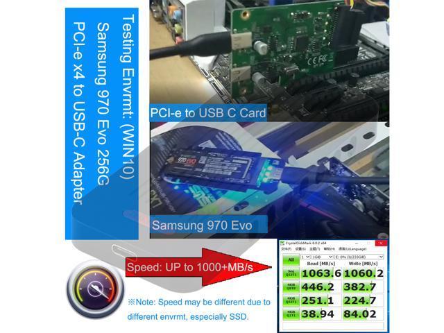 RIITOP NVMe Enclosure External M.2 PCI-e NVMe to USB C Adapter Enclosure Case (Gen 2) 10Gb for Samsung M-Key PCIe M.2 NVMe 960 970 Pro EVO SSD, Intel PM951 600P SSD - Aluminum in Black