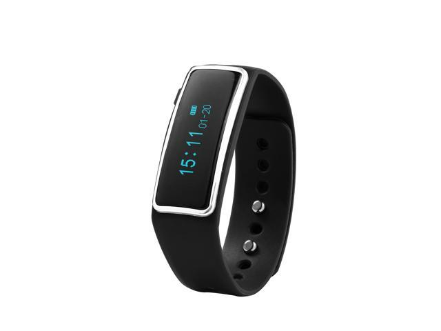 Nuband Lite Black Slim Activity and Sleep Tracking Band Apple and Android App Compatible