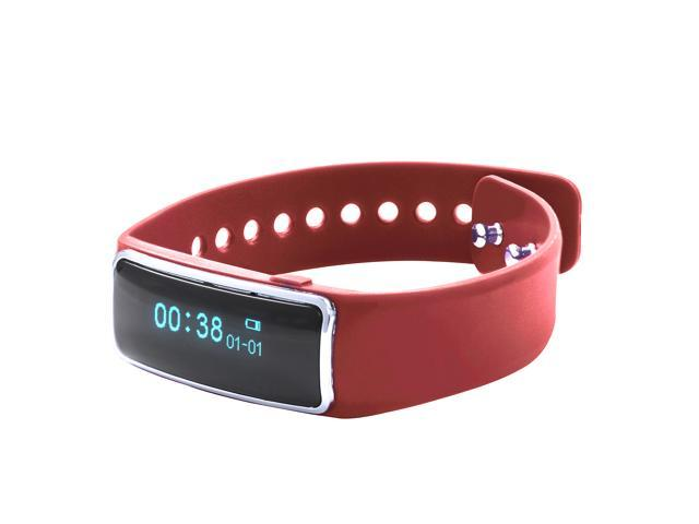 Nuband Lite Red Slim Activity and Sleep Tracking Band Apple and Android App Compatible