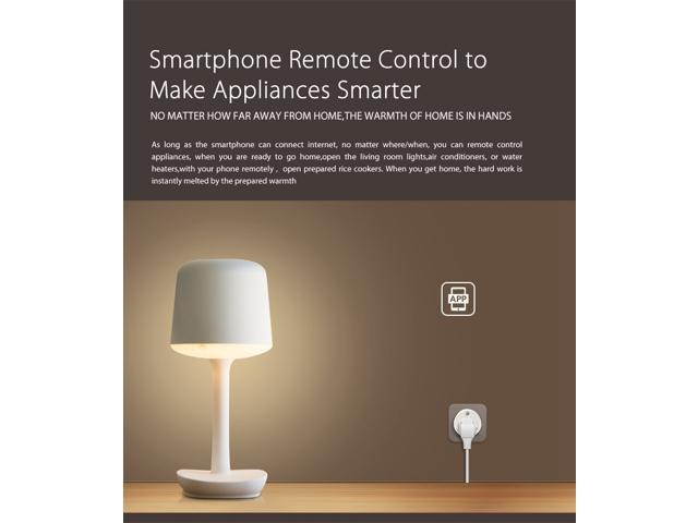 2 Pack Geekbes NAS-WR02W WiFi US Smart Plug Remote Control Appliance App Timing Function PC+ABS - White