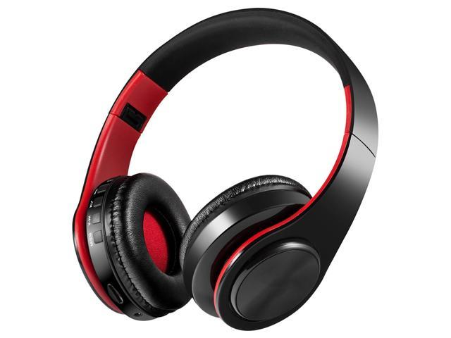 LPT660 Wireless Bluetooth 4.0 Foldable Headset Stereo Headphone With Mic /TF Card FM-Red+Black