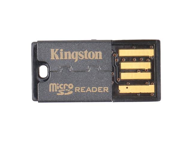 2 Pcs Kingston FCR-MRG2 USB 2.0 microSDHC Flash Memory Card Reader - Black