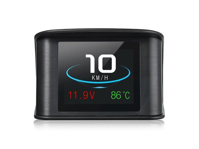 P10 2.6 Inch Universal OBDII Smart Head Up Display Car HUD Diagnostic Alarm LCD Display Speedometer - Black