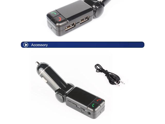 Earldom BC06 Dual USB Car Charger Bluetooth Handsfree Call FM Transmitter Car MP3 Player - Black