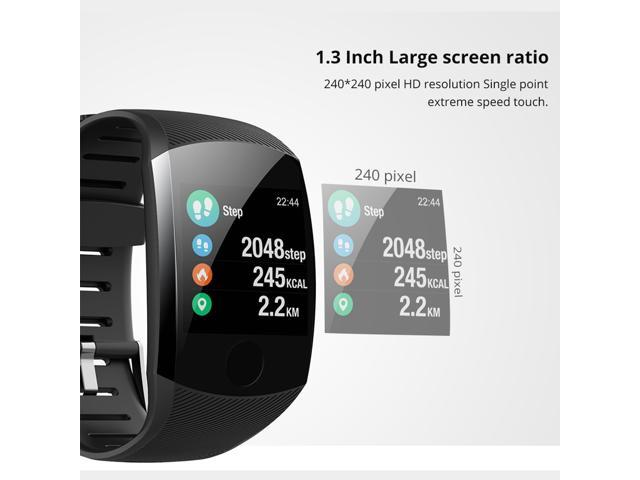 Makibes B01 IP67 Water Resistant Smartwatch Fitness Tracker 1.3 inch Blood Pressure color UI Wristband - Black