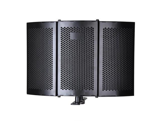 Studio Microphone Isolation Shield Acoustic Foam Panel Soundproof Filter Recording Panel Stand Mount