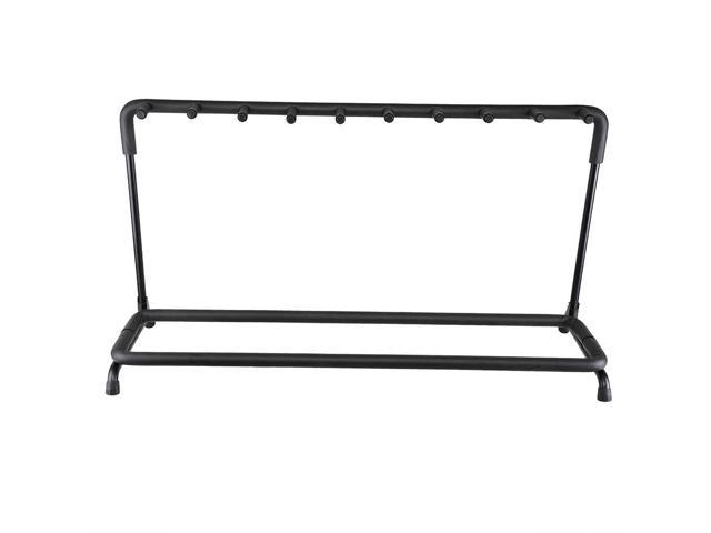 9 Nine Holder Multi Guitar Folding Stand Band Stage Bass Acoustic Guitar Display Rack