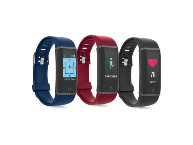 Lenovo HX03F Bluetooth 4.2 Smart Bracelet IP68 Heart Rate Moniter Pedometer Fitness Tracker For Android iOS - Black