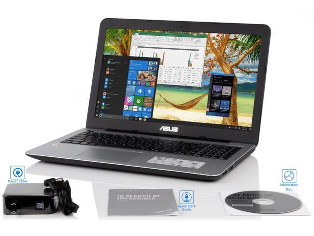 "Asus X555QA 15.6"" HD Notebook, AMD Quad-Core A12-9720P Upto 3.6GHz, 8GB RAM, 256GB SSD, VGA, HDMI, Card Reader, Wi-Fi, Bluetooth, Windows 10 Pro"