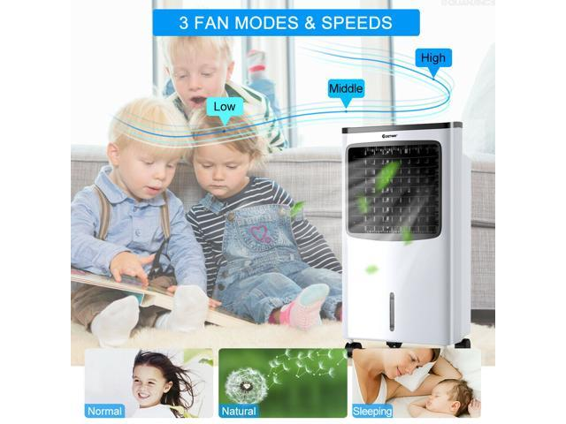 Portable Air Conditioner Cooler Fan Filter Humidify Anion W/ Remote Control