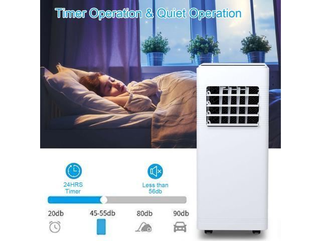 12000BTU Electric Portable Air Cooler Dehumidify Cool Fan w/ Remote Control