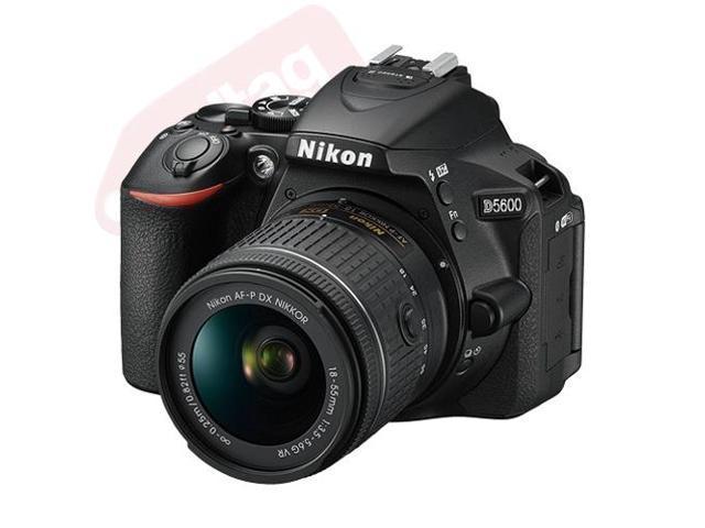 Nikon D5600 24.2 MP Digital SLR Camera with 18-55mm AF-P DX f/3.5-5.6G VR Lens