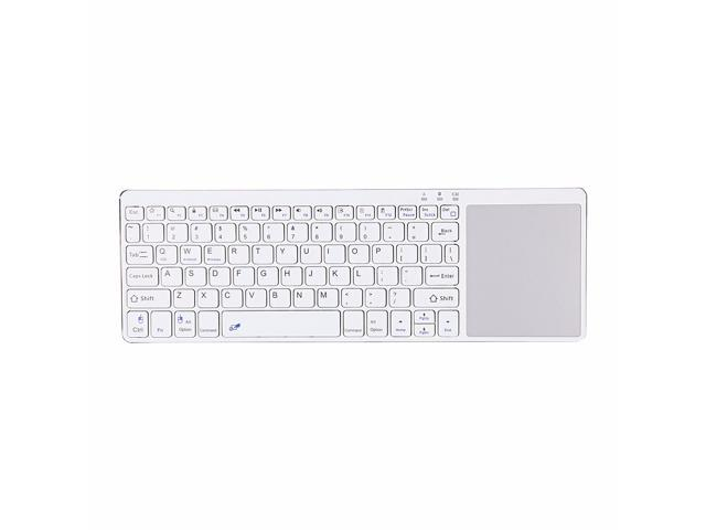 EC2WORLD Ultra-thin Wireless Bluetooth Keyboard with Touchpad Black / White Color Fashion Design for Windows Android iOS PC Pad