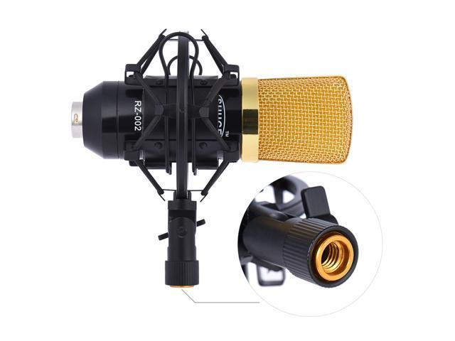 EC2WORLD Professional Broadcasting Studio Recording Condenser Microphone Mic Kit with Shock Mount Arm Stand Mounting Clamp Pop Filter