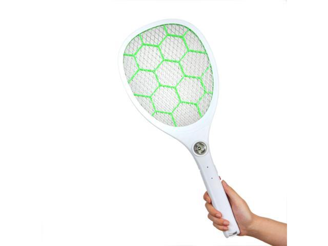 EC2WORLD Bug Zapper Rechargeable Mosquito, Insect Fly Killer Mosquito Repellent Electric Swatter, 4200 Volt USB Charging, Led Flashlight, Unique 3 Layer Safety Mesh That's Safe to Touch