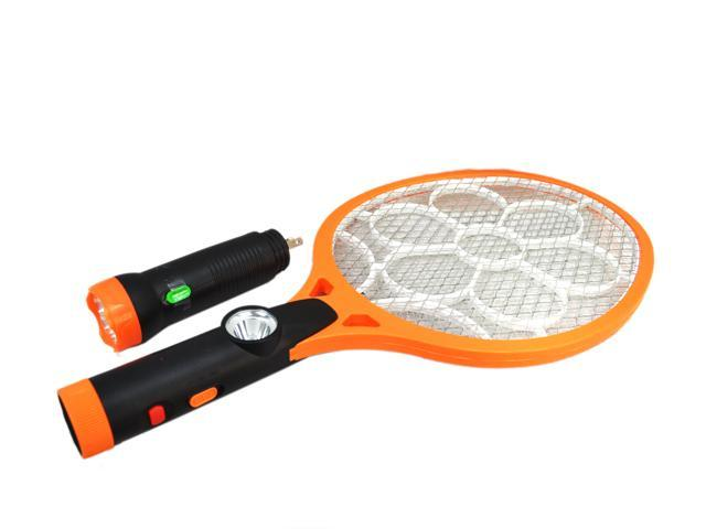 EC2WORLD Electric Mosquito Swatter / Bug Zapper with Removable Led Flashlight 4200 Volt Rechargeable Handheld Kills Insects Mosquito Bee and Bugs Indoor and Outdoor Killer