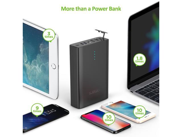 Omars AC Power Bank, 40200mAh AC Outlet Laptop Portable Battery Pack Travel Charger output with two USB Ports, 90w Output, 146Wh Universal Travel Charger for Macbook, Laptops, Tablets and Smartphones