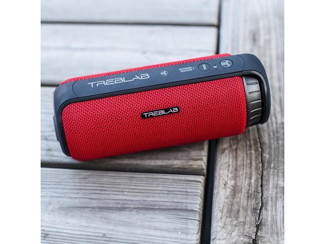 TREBLAB HD55 - Deluxe Bluetooth Speaker - Impeccable HD Surround Sound & Best Bass, Great For Office, Travel & Beach Parties, Waterproof IPX4, Loud 24W Stereo, Portable Wireless Blue Tooth w/ Mic