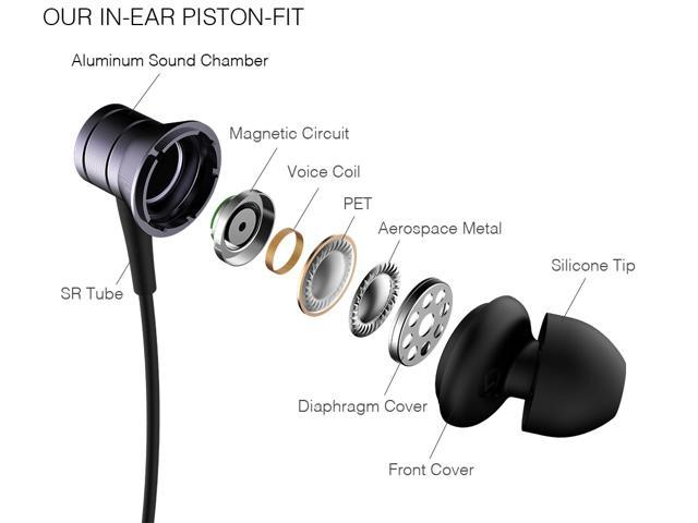 1MORE Piston Fit In Ear Headphones Wired Earphones with Microphone and Remote Control for iPhone Samsung Huawei - E1009 Space Gray