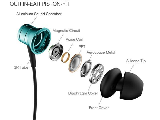 1MORE Piston Fit In-Ear Headphones (Earphones/Earbuds) with Apple iOS and Android Compatible Microphone and Remote (Teal)