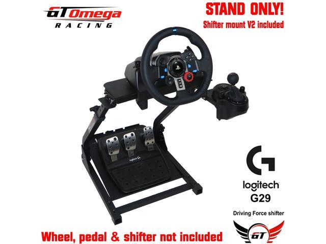 GT Omega Steering Wheel Stand + GSV1 and GSV2 Mount. Suitable For Thrustmaster T300RS/T500RS, Logitech G27/G29/G920 And Fanatec Wheel And Pedal Sets.