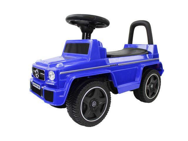 Evezo Mercedes Benz G63 Wagon, Toddler, Ride-on Push Car, Blue