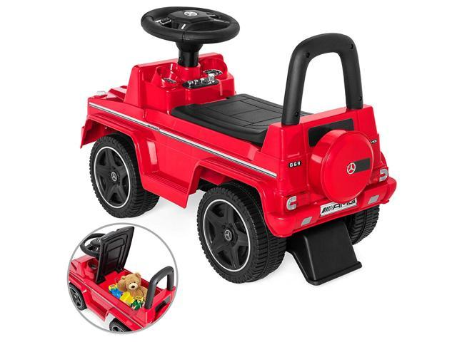 Evezo Mercedes Benz G63 Wagon Ride-On, Toddler, Push car, Red