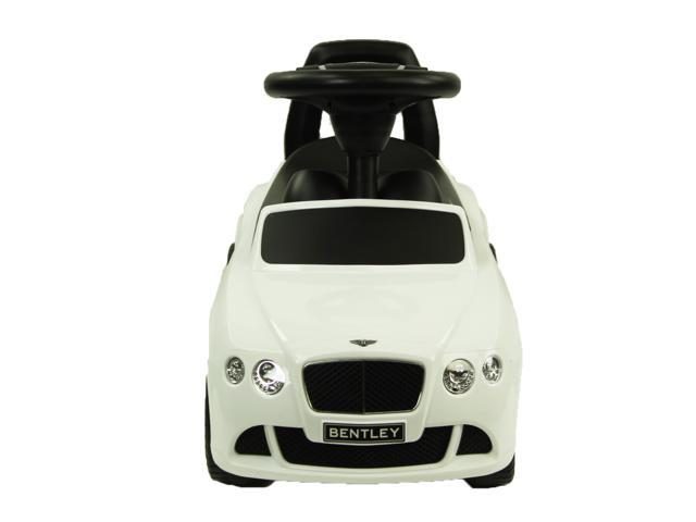 BENTLEY Continental GT Toddler Ride-On Push Car, White