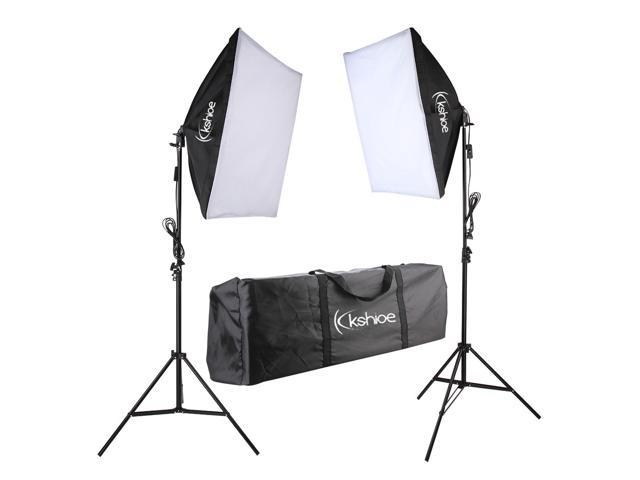 "2Pcs 24"" Large Softbox with Stand 135W Bulb Photography Photo Studio Light Kit"
