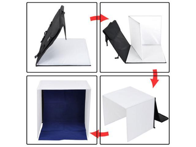 Mini Photo Studio Photography Light Tent 60cm Kit Backdrop Cube In A Box Stand