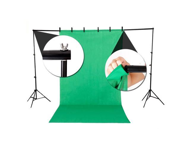 """6.5x10"""" Background Stand Photography Studio Lighting Kit with 3 Color Backdrop"""