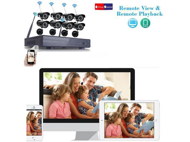 Wireless 8CH NVR IR-CUT Wifi Camera Home Security System Motion Activated +1TB