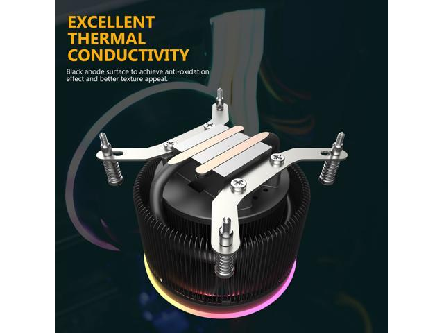 darkFlash Shadow Pro PWM Aluminum CPU LED Addressable RGB Motherboard Control Cooler Cooling Fan Motherboard Sync for Intel Core i7/i5/i3 AM3/AM4