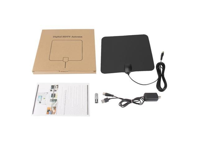 100 Long Miles Amplified HD Digital TV Antenna Support 4K 1080p for Indoor with Powerful HDTV Amplifier Signal Booster