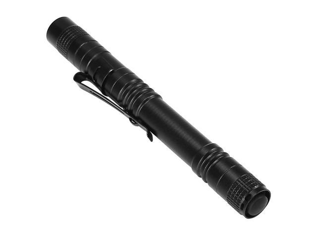 2 Pack Cree LED Waterproof Anti-slip Anti-abrasion Outdoor Mini Flashlight Aluminium Alloy Highlight Torch AAA 133mm - Black