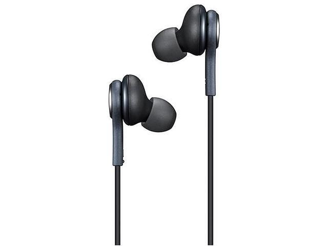AKG 3.5mm Wired In-line Earphones Stereo Earbuds With Microphone and line control for Samsung GALAXY S8 / S8 + - Black