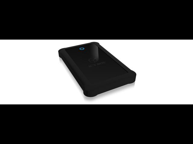 "RaidSonic IB-233U3-B Icy Box 2.5"" SATA HDD/SSD with USB 3.0 Interface & Silicone Protection Sleeve"