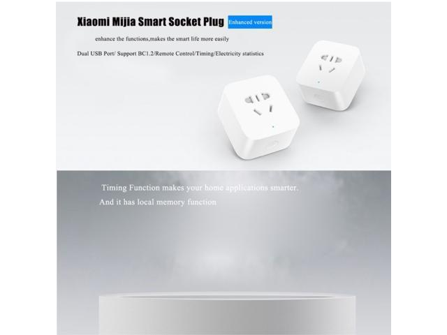 Xiaomi Mijia Wifi Smart Socket Remote Timing Control with 5V / 2.4A Dual USB Ports, Enhanced Version